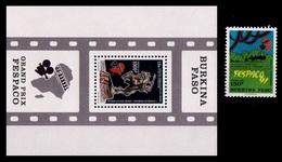 (025-26) Burkina Faso / 1991 / Film Festival / Cinema  ** / Mnh  Michel 1246 + BL 135 - Burkina Faso (1984-...)