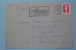 45 Loiret - Flamme 1990 - ORLEANS CT - Cité De Jeanne D'Arc Ses Roses Ses Jardins Ses Musées - Storia Postale