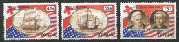 Tonga ** N° 708 à 710 - Cent. Du Traité D' Amitié Avec Les Etats Unis - Tonga (1970-...)