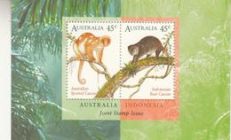 1996 Australia Indonesia Mammals   Souvenir Sheet MNH - Stamps
