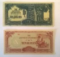 Lot De 2 Billets De Banque JAPON / Japanese Government - Japan