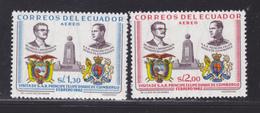 EQUATEUR AERIENS N°  397 & 398 ** MNH Neufs Sans Charnière, TB (D5881) Visite Du Duc D'Edimbourg - Ecuador