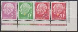 Bund 1958 Zdr. MiNr. W20 X  ** Heuss Bogenecke ( 1898 ) - BRD