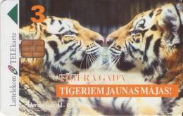 TARJETA TELEFONICA DE LETONIA, FAUNA (021) - Latvia