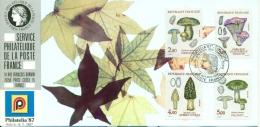 CM-CP042-Carte Maximum Card-Carte Expo-Exhibition Card #1987-France # PHILATELIA-Cologne(Allemagne) # Champignons,Pilze - Maximumkaarten