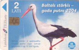 TARJETA TELEFONICA DE LETONIA, FAUNA - TIRADA 80000 (024) - Letonia