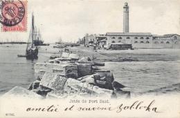 "Egypt Port Said French Post Office 1905 Picture Postcard ""Jetée De Port Said"" With 10 C. Posted To France - Port-Saïd (1899-1931)"