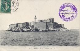 """France Picture Postcard Marseille """"Chateau D'If"""" Posted 1913 Prison Jail Carcel Prigione - Prigione E Prigionieri"""