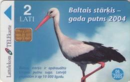 TARJETA TELEFONICA DE LETONIA, FAUNA - TIRADA 20000 (025) - Letonia