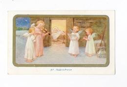 Anges Musiciens, Crèche, Noël, Nativité, éd. B. F. - Images Religieuses
