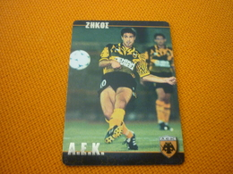 Akis Zikos AEK AS Monaco Old Greek Football Game Trading Card - Sports