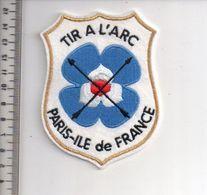 REF 10 : Écusson Patch Thème TIR A L'ARC Archerie Archer Arc Club Paris Ile De France - Archery