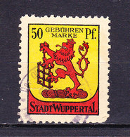 Stadt Wuppertal, Gebuehrenmarke, Loewe, 50 Pfg (48233) - Gebührenstempel, Impoststempel