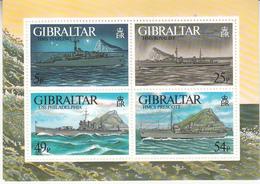 1996  Gibraltar  World War II Visiting Naval Ships Military Souvenir Sheet MNH - Gibraltar