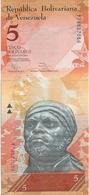 N. 1  Banconota  Del  VENEZUELA  Da 5  Bolivares  - Anno 2014. - Venezuela