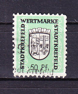 Stadt Krefeld, Wertmarke, Wappen, 50 Pfg (48235) - Gebührenstempel, Impoststempel