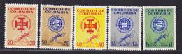 COLOMBIE N°  601 & 602, AERIENS N° 408 à 410 ** MNH Neufs Sans Charnière, TB (D5884) Eradication Du Paludisme - Colombie