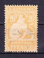 K B Stempel, Wappenloewe, 20 Pfg (48236) - Gebührenstempel, Impoststempel