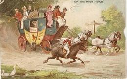 """Coaching. On The High Road"" ""  Tuck Calendar Series Postcard # 2115 - Tuck, Raphael"