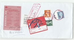2000 GB COVER  To Lisbon PORTUGUESE POST LABEL AUSENTE UNDELIVERED  Returned To Sender GB POST Reading Stamps Portugal - 1910-... Republic