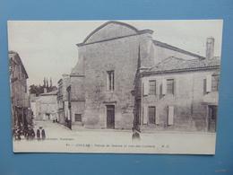 """JONZAC - Palais De Justice Et Rue Des Carmes """"RARE CPA Animée"""" - Jonzac"""