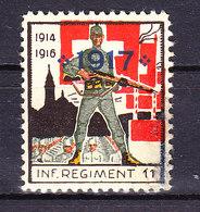 Soldatenmarke, Inf Regiment 11, 1917, Ungebraucht (48238) - Labels