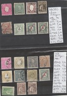 TIMBRES EN LOTS DU PORTUGAL (macao-inde ) OBLITEREES NEUF   / * / (*)   Nr VOIR SUR PAPIER AVEC TIMBRES COTE 34.35 € - Macao