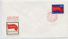 YUGOSLAVIA 1976 Red Flag Centenary Envelope Cancelled. Michel U85A - Postal Stationery