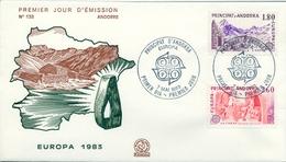 1983 , ANDORRA FRANCESA , PRIMER DIA , ED. 334 / 335 , TEMA EUROPA - FDC