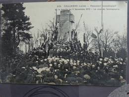 77 COULOMMIERS MONUMENT COMMÉMORATIF  JOUR ANNIVERSAIRE 140 RGT D'infanterie - Coulommiers