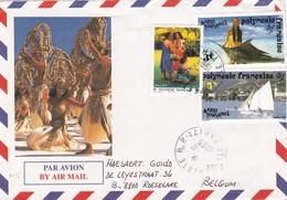 Gelopen Brief Uit POLYNESIE FRANCAISE ( Nrs 401 - 403 - 674 ) - Autres - Asie