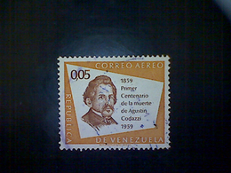 Venezuela, Scott #C715, Used (o), 1960 Air Mail, Augustin Codazzi, 5cts, Yellow Orange And Brown - Venezuela