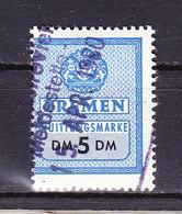 Bremen, Quittungsmarke, 5 DM (48241) - Gebührenstempel, Impoststempel