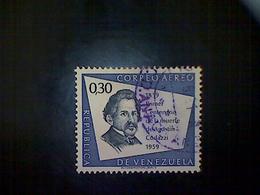 Venezuela, Scott #C718, Used (o), 1960 Air Mail, Augustin Codazzi, 30cts, Violet Blue And Slate - Venezuela