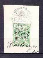 Dokumentenstueck, Stempelmarke Preussen, 1 Mk 50 Pfg, Behoerdenstempel Brandenburg 1902 (48243) - Gebührenstempel, Impoststempel