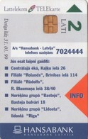 TARJETA TELEFONICA DE LETONIA, (064) - Latvia