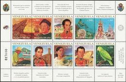 VENEZUELA 1998 500th Anniversary Margarita Parrot Bird Fauna MNH - Venezuela