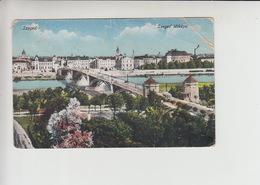 Szeged, Used 1910 Postcard 5stamp Franking (st305) Damaged - Hungary