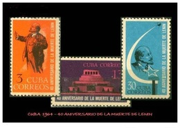 CUBA/KUBA 1964   40° ANIV. DE LA MUERTE DE LENIN  MNH - Cuba