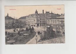 Szeged, TRAM Tramway Strassenbahn Used 1907 Postcard (st318) - Hungary