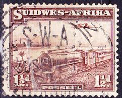 Südwestafrica Southwest Africa - Eisenbahn, Überseedampfer Und Flugzeug (MiNr: 181) 1936 - Gest Used Obl - Africa Del Sud-Ovest (1923-1990)