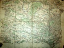 Carte FRANCE Feuille XVI Paris Ouest Dressée Par Ordre Du MINISTRE De L'INTERIEUR, Gravé Par ERHARD Map Hachette C1890 - Topographical Maps
