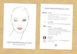 Carte Promo Publicitaire Adversiting Card Make Up COCO MADEMOISELLE LOOK 2018 * CHANEL * R/V - Modernes (à Partir De 1961)