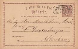 DR Ganzsache Nachv. Stempel Oelsnitz Im Vogtlande 5.10.73 - Briefe U. Dokumente