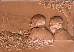 Plaquette En Bronze ? De La Ville De Metz - Other Collections