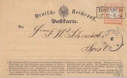 DR Karte EF Minr.18 R2 Bonenburg 12.12 Gel. Nach Soest - Deutschland
