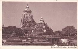 CARTOLINA - POSTCARD - INDIA - SRI MANDIR , TEMPLE OF LORD JAGANNATH, PURI - India