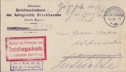 DR Zustellurkunde KOS Bruchhausen (Kr. Hoya) 16.6.11 - Deutschland