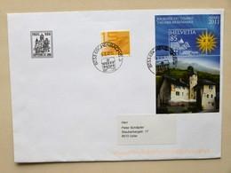 """SUISSE / SCHWEIZ / SWITZERLAND // 2011, Brief Mit Sonderblock """"Tag Der Briefmarke 2011 SIERRE"""", Gest. ESCHENBACH 15.2.12 - Switzerland"""