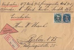 DR R-NN-Brief Mif Minr.126,128 München Gel. Nach Berlin - Deutschland